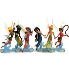 6pcs Toys GIFT Disney Fairies Figuren Play Spiel Set TINKERBELL Silberhauch M204