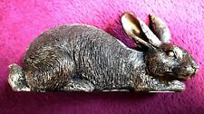 More details for bronze rabbit by art sculptures uk 20cm tall x 11cm high with free postage.