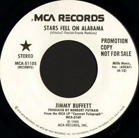 "JIMMY BUFFETT stars fell on alabama MCA-51105 promo usa mca 1980 7"" WS EX/"