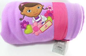 Disney Store Doc McStuffins Blanket Throw 60 x 50 Lavender NEW