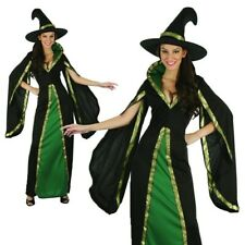 Femmes Médiéval Costume Sorcière Vert Adulte Halloween Sorcières Déguisement