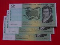 Australia R-83. (1968) 2 Dollars - Phillips/Randall..  aUNC - CONSECUTIVE Trio