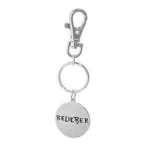 Justin Bieber Belieber Logo Disc Keyring