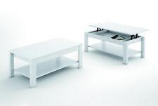 LIQUIDATODO ® - Mesa de centro elevable moderna y barata color Blanco