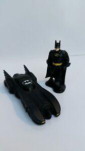 Ertl '92 Diecast Batmobile & Batman Figurine Lot - VG Condition!