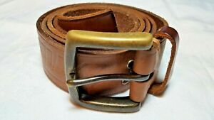 Silas Embossed and Studded Brown Leather Belt, Stussy