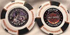 Harley-Davidson® of Folsom, CA Collector Poker Chip White/Black/Orange NEW