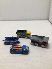 Lot of 4 Special Die Cast Dump Trucks, Deora Ii, Boat, Matchbox Hot Wheels