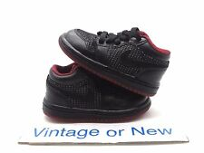Nike Air Jordan I 1 Low Black Metallic Silver Varsity Red Retro TD 2007 sz 4C