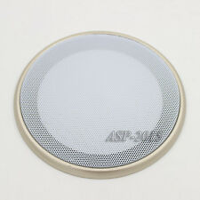 """2X 6.5"""" Speaker Coaxial Steel Sub Mesh Grills Cover White Woofer Cover 20CM"""