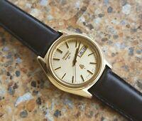 Vintage Seiko Quartz QT JDM 3803 7031 February 1974 KANJI 14K Cap Gold