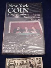ROTH RUBINSTEIN GALLO DVD NEW YORK COIN MAGIC SEMINAR VOL.7