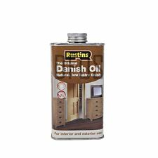 Rustins Original Danish Oil 250ml Indoor or Outdoor use worktops furniture doors