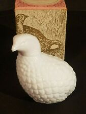 Full Bottle Vintage 70s Avon The Partridge Topaz Cologne Milk Glass With Box