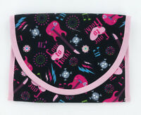 "Reusable Snack and Sandwich Bag, School lunch pouch, 7"" x 6"", Girls Rock Pink"