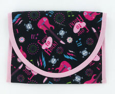 """Reusable Snack and Sandwich Bag, School lunch pouch, 7"""" x 6"""", Girls Rock Pink"""