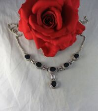 """Sterling Silver & Onyx 27g 18.5"""" Necklace Feral Cat Rescue"""