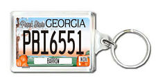 GEORGIA USA LICENSE PLATE KEYRING SOUVENIR LLAVERO