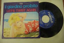 """GEORGE PAPAS""""LET'S TWIST AGAIN/IL GIARDINO PROIBITO-disco 45 giri FONOLA 1973"""""""