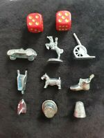 FULL SET COLLECTION OF 9 MONOPOLY TOKENS PIECES NEW BOARDGAMES SPARES EXTRAS VTG