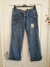 Next Denim Womens  Blue Cropped Girlfriend Jeans Size 8 Leg 27 BNWT