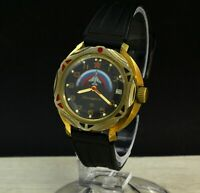 "Vintage Russia mechanical wrist watch Vostok (Wostok) ""commanding"" with date"