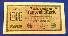 Antique Rare Historical 1000 German Mark 1922 - Lightly Circulated