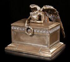 Tier Urne mit Trauerndem Engel - bronziert Hund Katze groß Tierurne