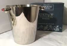 MARQUIS by WATERFORD STAINLESS CHAMPAGNE BUCKET~RED LEATHER HANDLES
