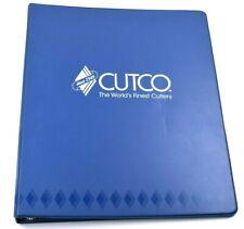 Vintage CUTCO Knives Blue Salesman World Wide Binder