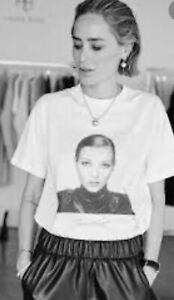 Anine Bing Ida Tee AB X TO Kate Moss In Optic White Size Medium