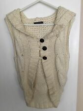 Cream Coloured Knitted Gilet With Hood
