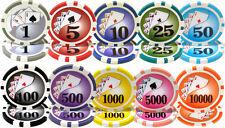New Bulk Lot of 1000 Yin Yang 13.5g Clay Poker Chips - Pick Denominations!