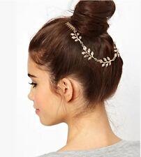 Women Metal Rhinestone Head Chain Wedding Jewelry Headband Head Piece Hair band