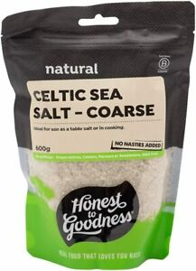 New Honest to Goodness Celtic Sea Salt Coarse 1 x 600 g AU