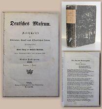 Prutz uW Deutsches Museum Zeitschrift für Literatur 1851 Fontane Hemmingstedt xz