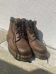 Dr Martens Brown Leather Boots Womens Size 5 (UK)