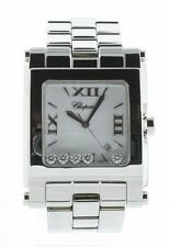 Chopard Happy Sport XL White Dial 5 Floating Diamonds SQ SS Watch 28.8467-3001 *