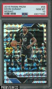 2016-17 Panini Mosaic Prizm #56 Kevin Durant Golden State Warriors PSA 10