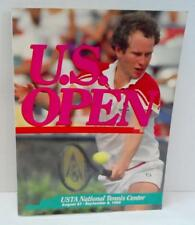 Official US OPEN TENNIS PROGRAM 1985 John McEnroe cover Evert Navratilova Court
