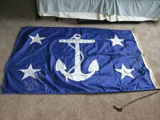 U.S. Secretary of the Navy Flag Size 6 Autographed by 5 Secretaries
