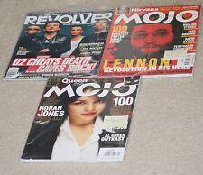 3 The Beatles related magazine Lot- Revolver(w/U2) & Mojo(2) -Norah Jones.Lennon