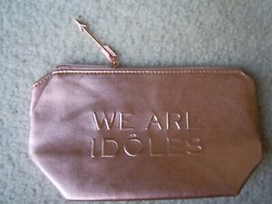 LANCOME Idole WE ARE IDOLES Rose Gold Makeup Cosmetic Bag Travel 9.5 x 5.25 inch