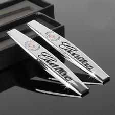 2Pcs Chrome Metal Car Side Emblem Badge sticker Fits for Cadillac ATS CTS XTS