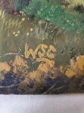 Winston Churchill original vintage oil painting hand signedno print