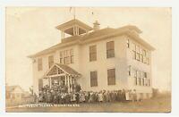 Scarce RPPC postcard PUBLIC SCHOOL BUILDING in BEAVERTON OREGON 1910s history NW