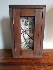 Decorative Glazed Box with Three Little Locks Handmade from Reclaimed Mahogany