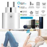 Wifi Control Smart EU Plug Power Socket Outlet APP For Amazon Alexa Echo Google