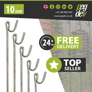 METAL FENCING PINS PACKS 1300 x 10mm - Stakes Events Temporary Barrier Fence