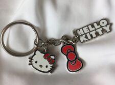 2011 Hello Kitty Keychain Keyring Key Chain Ring Dangle Charm Bow Title 004297